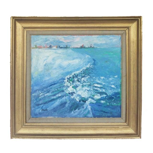 """Image of """"Big Surf"""" Modernist Oil on Canvas"""