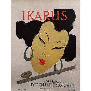 Original IKARUS Cover German Aviation Themed Poster, Circa 1925