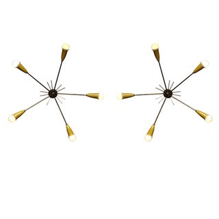 Italian Starburst Sconces - a Pair