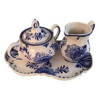 Delft Blue & White Tea Set - 3 Pieces