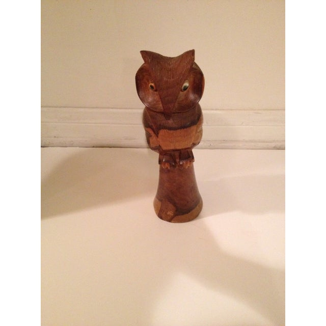 Wooden Owl/Hand Carved - Image 2 of 7