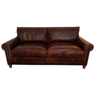 Ralph Lauren Distressed Leather Macintyre Loveseat