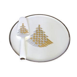 Bone China Christmas Tree Platter & Server
