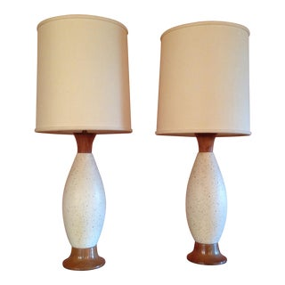 Vintage Mid-Century Table Lamps - Pair