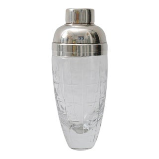 Baccarat Cut Crystal & Silver Plated Martini Shaker