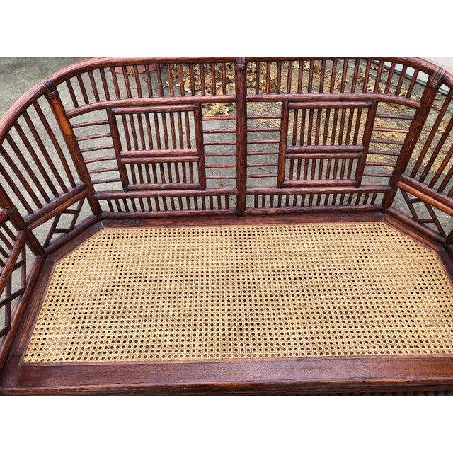 Vintage Brighton Bamboo Wicker Furniture Sofa - Set of 3 - Image 10 of 11