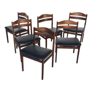 Danish Modern Rosewood Dining Chairs - Set of 6