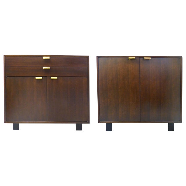 Image of George Nelson for Herman Miller Cabinets - A Pair