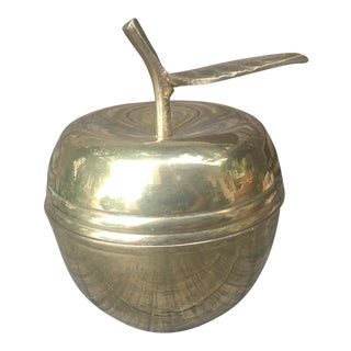 Vintage Brass Apple Jar