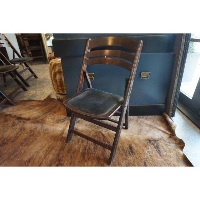 Vintage Folding Chairs - Set of 4 - Image 2 of 4