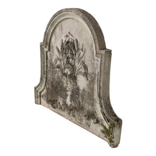 Antique French Wall Stone Fountain