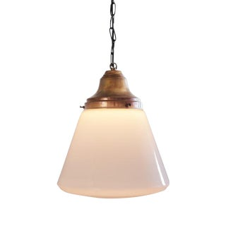 Danish Schoolhouse Copper & Glass Globe Pendant