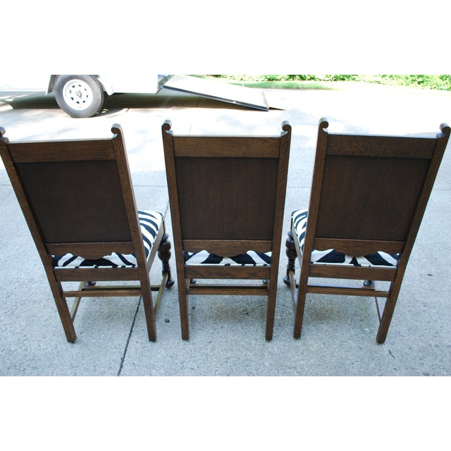 Oak Dining Room Chairs - Set of 6 - Image 9 of 11