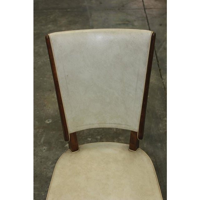 Set of Six French Art Deco Solid Mahogany Dining Chairs, circa 1940s. - Image 9 of 10