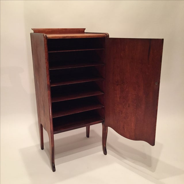Antique Mahogany Sheet Music Cabinet - Image 4 of 7