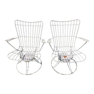 Homecrest Swivel Rocker Patio Chairs - A Pair