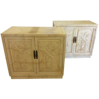 Asian-Style Henredon Bachelor Chests - A Pair