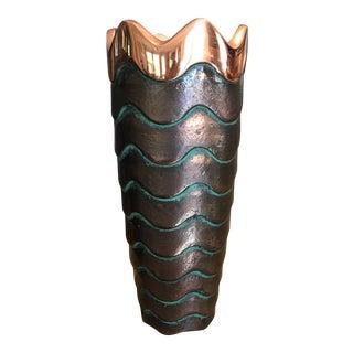 Nambe Copper Canyon Vase Signed Lisa Smith