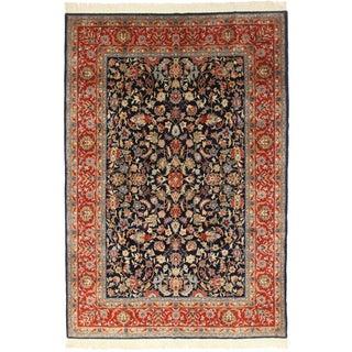 Vintage Persian Sarouk Rug - 7′ × 10′2″