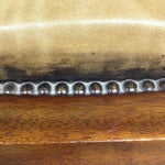 Image of Antiqued Tufted Leather Ottoman