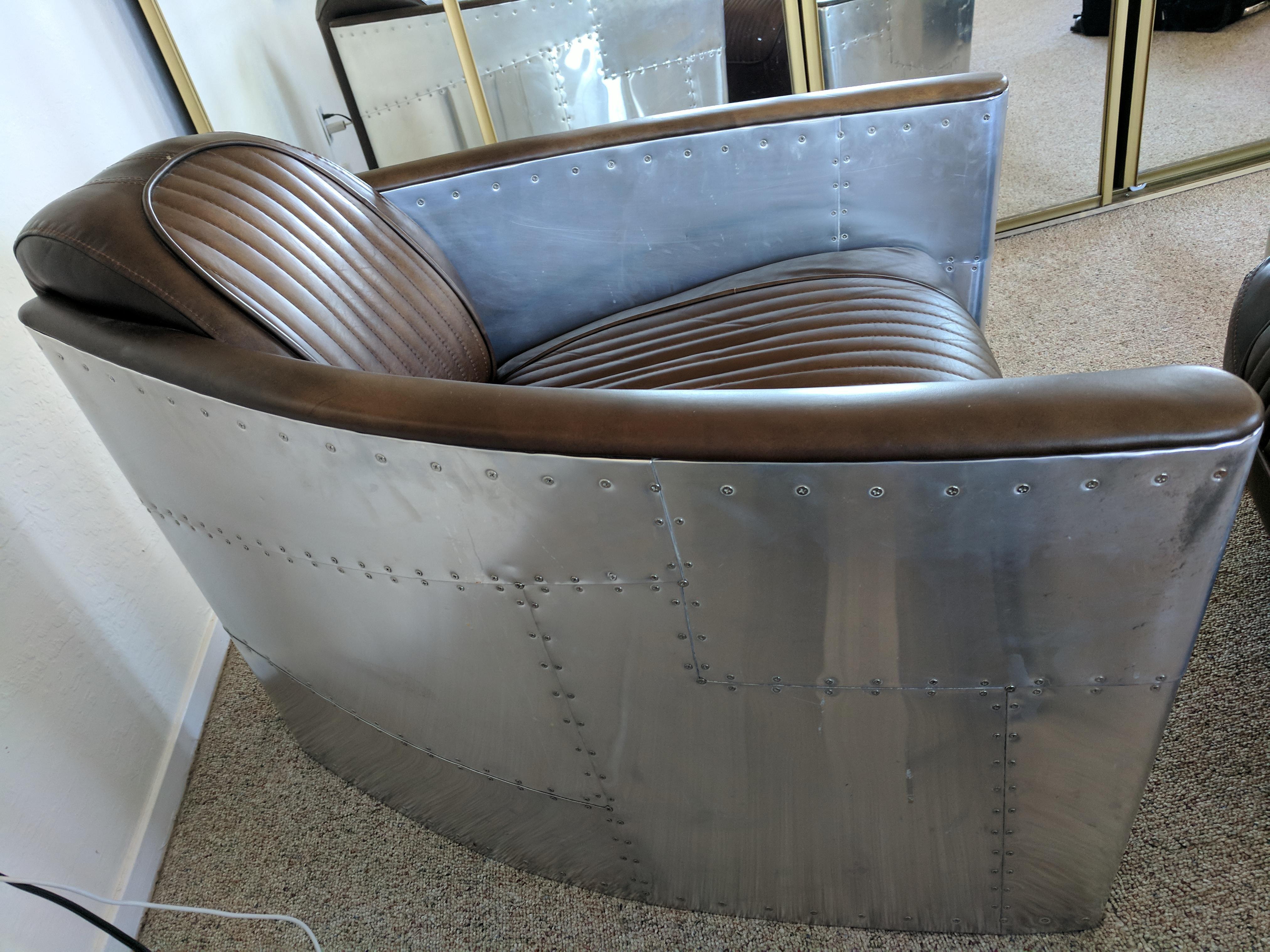 Restoration Hardware Burnham Cognac Aviator Chair   Image 2 Of 5