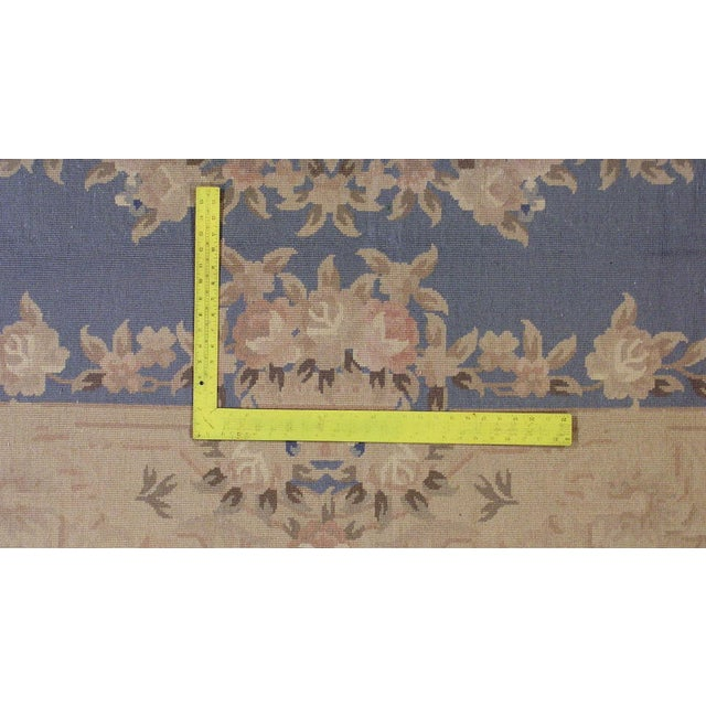 1930s Antique Chinese Art Deco Hand Made Rug- 9′ × 11′7″ - Image 7 of 8