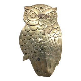 Vintage Brass Owl Tray