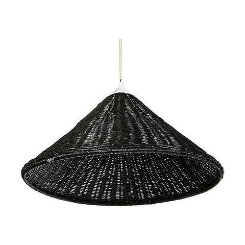 Black Wicker Hanging Pendant Lamp - Image 4 of 6