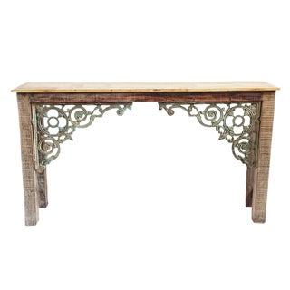 Reclaimed Wood & Iron Console Table