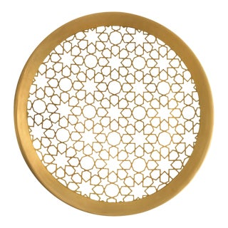 Arabesque Gold Charger