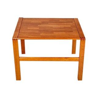 1970s Teak Dovetail Side Table