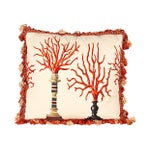 Image of Italian Coral Print Pillow