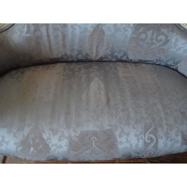 Antique French Small Settee Loveseat - Image 4 of 7