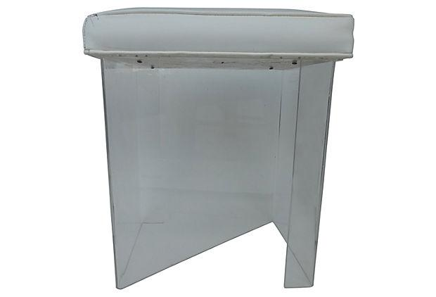 Clear Lucite Vanity Stool