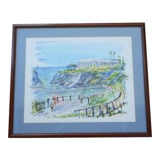 Vintage Alfred Birdsey Framed Bermuda Watercolor Painting