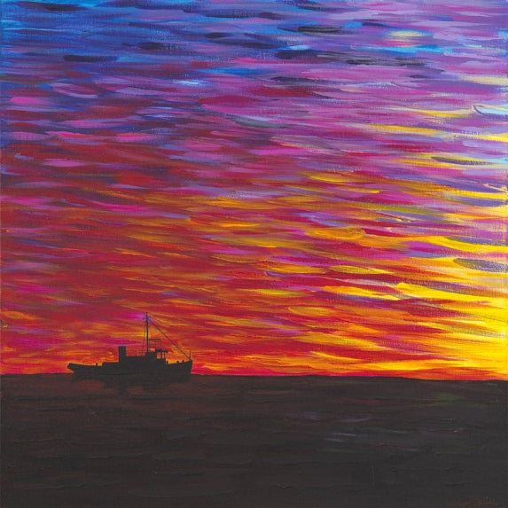 Image of 'Tugboat Life' Contemporary Giclee Print