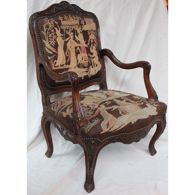 French Louis XV Walnut Arm Chair - Image 2 of 10