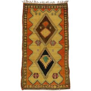 "Vintage Berber Moroccan Tribal Rug - 4'9"" x 8'7"""