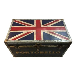 Cedar Lined Old English Union Jack Portobello trunk