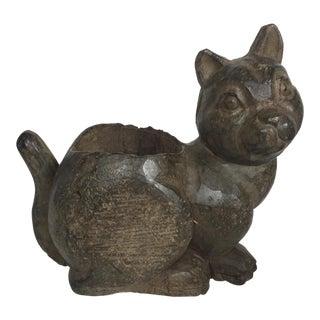 Vintage Wooden Cat Paper Mache Mold