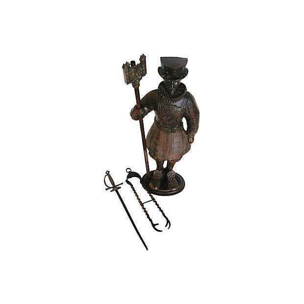 Tower of London Beefeater Fireplace Set - S/3 - Image 4 of 7