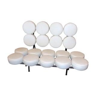 White Mid-Century Modern Marshmallow Sofa