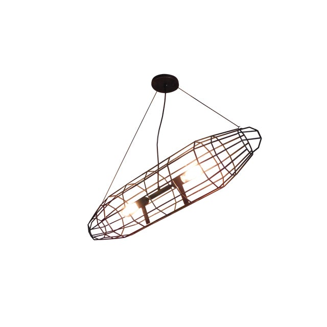 London 1916 Industrial Pendant Light - Image 1 of 6