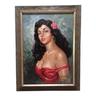 """Mid-Century Pinup Portrait """"Carmen"""""""