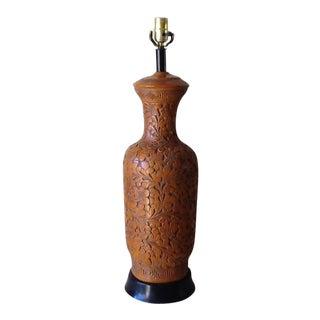 Mid-Century Chinoiserie Ceramic Lamp