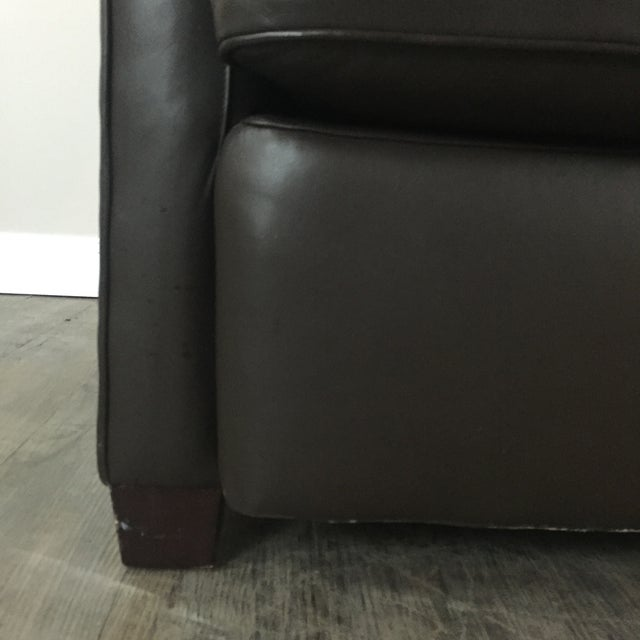 Image of Baker Leather Chair & Ottoman