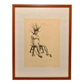 Jonathon Hale Appalachian Folk Art Signed Intaglio Print