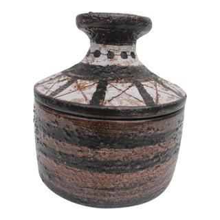 Aldo Londi For Bitossi Italian Studio Pottery Decorative Lidded Bowl