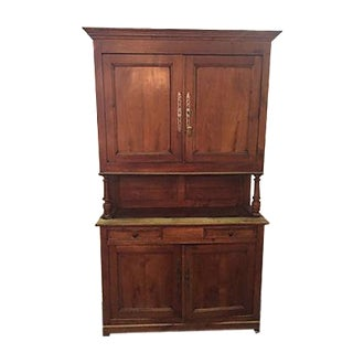 Antique French 2-Piece Hutch