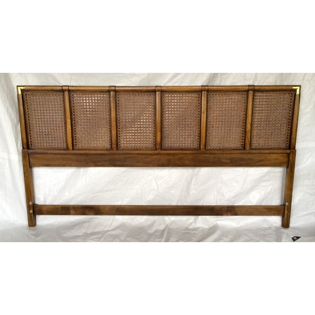 Image of Drexel Campaign Style King-Sized Headboard